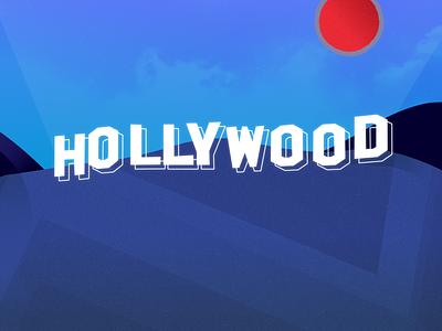 Blue Hollywood affinity designer illustration affinity hollywood sign hollywood