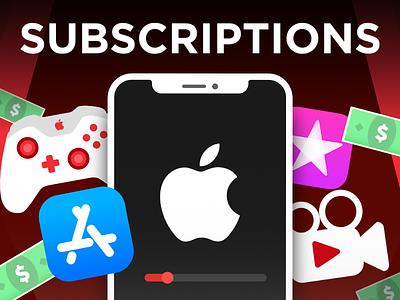 YouTube Thumbnail - Apple Subscriptions branding vector illustration graphic design illustrator animation thumbnail youtube