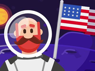 Man On The Moon illustrator design