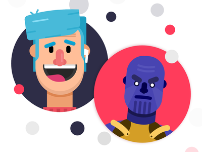Character Concepts ft Thanos illustrator vector character avengers thanos