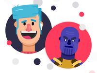 Character Concepts ft Thanos