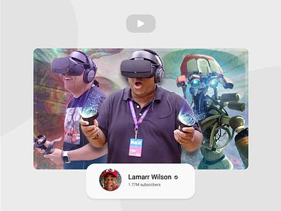 YouTube Thumbnail Design - Oculus & LamarrWilson ft Dashi facebook oculus design illustrator vector thumbnail youtube