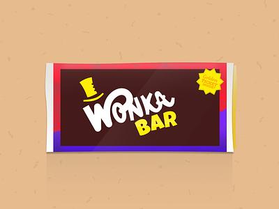 Wonka Bar chocolate bar illustrator vector willy wonka wonka design candy chocolate