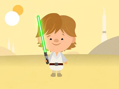 Luke on Tatooine affinitydesigner illustrations disney star wars illustration