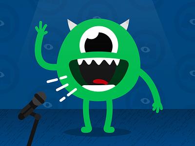 Mike Wazowski Standup vector illustrator affinity designer mike wazowski monsters inc disney pixar