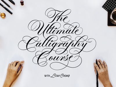 The Ultimate Calligraphy Online Course: now open for enrolment! calligraphy and lettering artist typography brush lettering flourishing calligrapher design online workshop banner title online course modern calligraphy penmanship script script lettering lettering brushlettering brush calligraphy copperplate calligraphy
