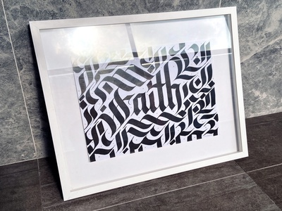 Faith - Original Art 1 of 1 negative space artworkforsale original art wall decor blackletter wall art home decor faith calligraphy and lettering artist brush calligraphy graphics lettering art lettering artist design type handlettering calligraphy illustration lettering typography