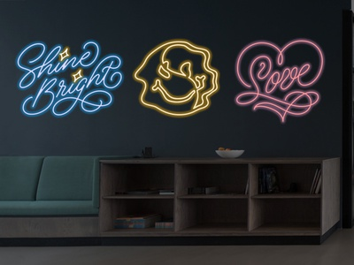 Neon Sign Designs wall art environmental design lettering art lettering artist handlettering lettering typography neon lights monolinear monoline illustration monoline script monoline design illustration calligraphy and lettering artist calligraphy neon light neon colors neon neon sign design neon sign
