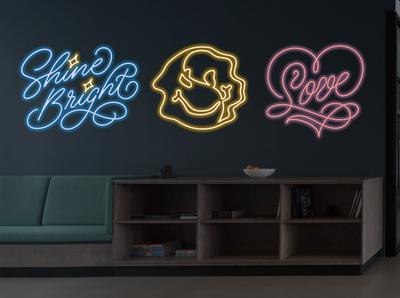 Neon Sign Designs wall art environmental design lettering art lettering artist handlettering lettering typography neon lights monolinear monoline illustration monoline script monoline design illustration calligraphy and lettering artist calligraphy neon light neon colors neon neon sign design neon sign