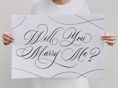Will You Marry Me - Calligraphy Poster Print brush calligraphy brushlettering calligraphy design shop marriage proposal proposal design wedding design wedding signs wedding decor will you marry me graphics lettering art lettering artist design handlettering type calligraphy illustration typography lettering