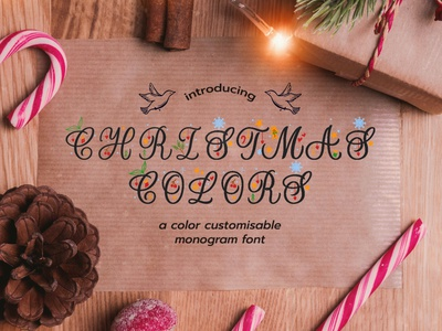 Christmas Colours Monogram Font calligraphy artist calligraphy fonts illustration design script fonts typeface design font design seasons greeting presents gifts snowflakes stars brushlettering font calligraphy font script font christmas packaging font christmas merch font festive font christmas font christmas