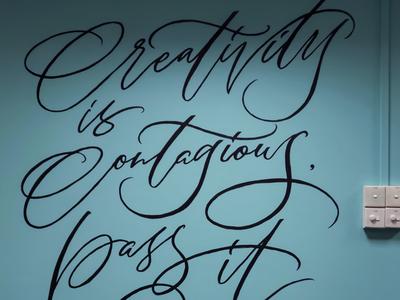 MURAL | Creativity Is Contagious, Pass It On - Albert Einstein