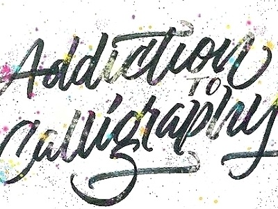 Graffiti Inspired Brush Script calligraphy typography lettering type illustration