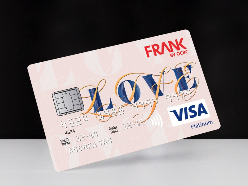 Credit Card Design | BRAVE BY FRANK OCBC X MOX BY INVADE calligraphy positivity lettering artist lettering art love life handlettering graphic design credit card design typography lettering