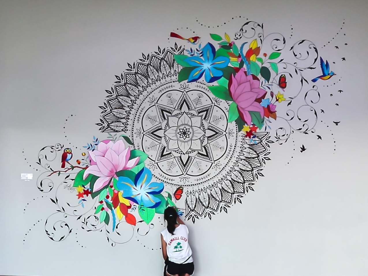 Mandala Modern Florals Mural By Leah Chong On Dribbble