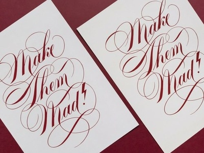 Make Them Mad | Lettering Art Print