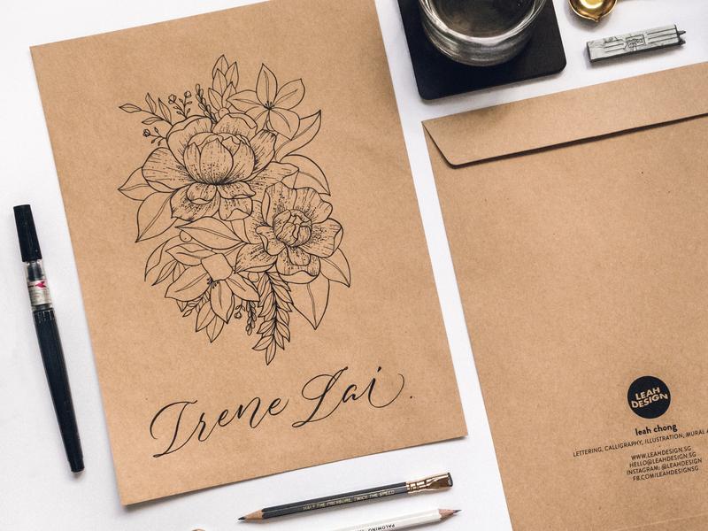 Modern Florals - Envelope Packaging Design floral packaging packaging design envelope design envelope packaging brush calligraphy calligraphy floral illustration modern florals florals illustration lettering