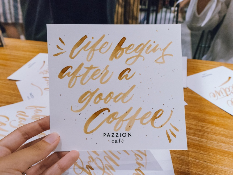 Coffee Calligraphy @ Pazzion Cafe, Jewel Changi modern calligraphy jewel changi singapore pazzion cafe coffee quotes coffee ink coffee calligraphy coffee brushlettering design calligraphy and lettering artist brush calligraphy lettering artist lettering art handlettering calligraphy illustration typography lettering