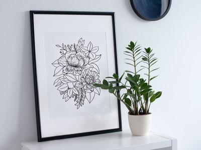 Bloom - Floral Illustration Print