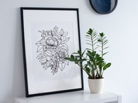 Bloom - Floral Illustration Print