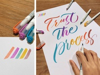 Trust The Process - Brushlettering Artwork