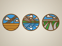 Minimalistic environments buttons