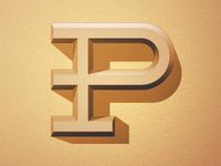 P on sandstone