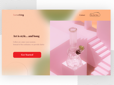 Landing Page UI dailyuichallenge visual design ui figma colorscheme