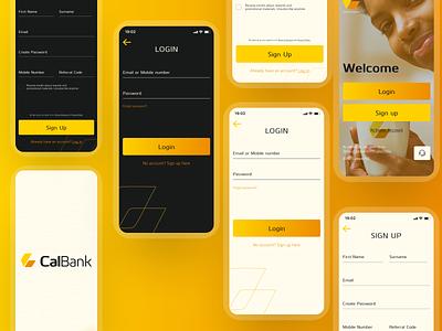 CalBank Authentication UI ux ui figmaafrica design visual design figma