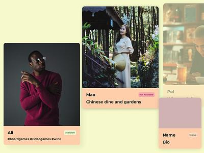 UI Cards for Profiles figmaafrica visual design ui figma
