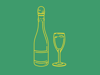 Champagne Icons/Line Art