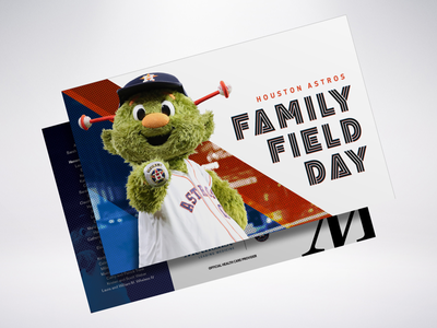 Cancelled Houston Astros Family Field Day Invitation texas invitation baseball houston houston methodist mascot orbit astros houston astros