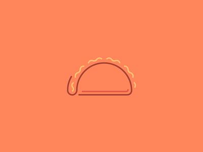 Taco Icon/Line Art symbol icon texas houston taco line art iconography icons icon design