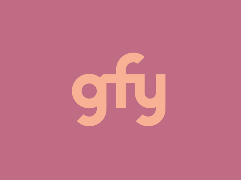"""gfy"" text treatment letterer graphic design houston curse word lettering typography type go fuck yourself gfy"
