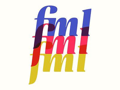 """fml"" lettering exploration houston curse word fml type typography letter letterer lettering"