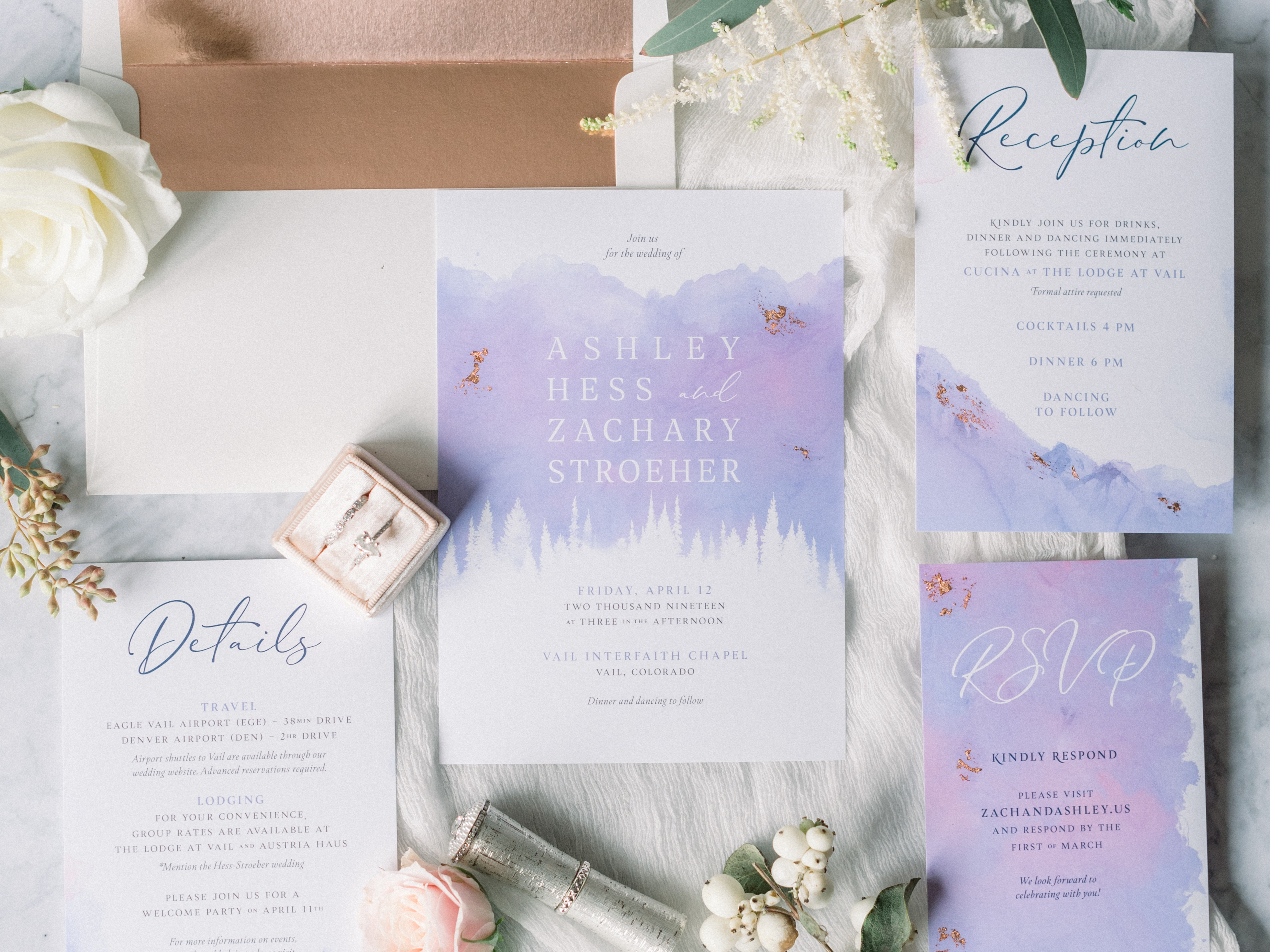 Wedding Invitation Suite by Zach Stroeher on Dribbble