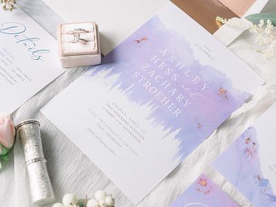 Wedding Invitation Suite Pt.2 graphic design vail colorado marriage invite watercolor formal invitation wedding