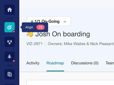 Side Nav - Tooltip dashboard user interface icons navigation notifications ux ui daily tooltip menu nav side