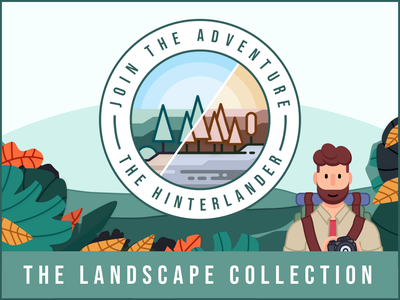 The Landscape Collection - Lightroom Presets instagram filter character photography logo jungle vector minimal illustration lightroom mobile presets lightrom lightroom preset adventure explorer character design beard flat branding icon