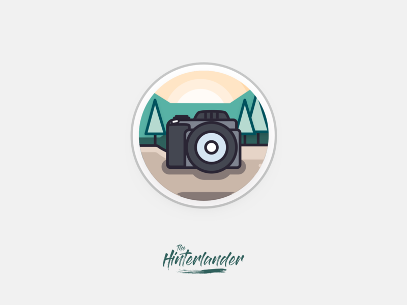 Camera Icon - The Hinterlander app design camera app minimal branding flat camera logo cameras instagram cover highlights instagram stories instagram dslr illustration vector logo photography icon app icon camera icon camera