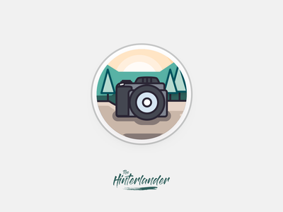 Camera Icon - The Hinterlander app design camera app minimal branding flat camera logo cameras instagram cover highlights instagram stories instagram dslr illustration vector logo photography icon app icon camera icon camera