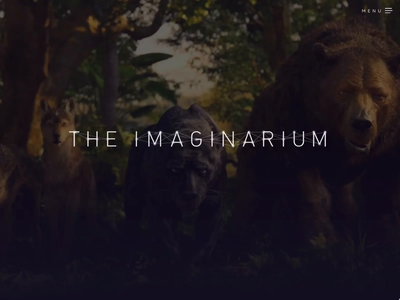 The Imaginarium - Production Company website branding ux ui production company tv mowgli animation andy serkis film movie web design website web