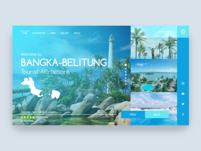 Landing Page Tourist Attractions Website