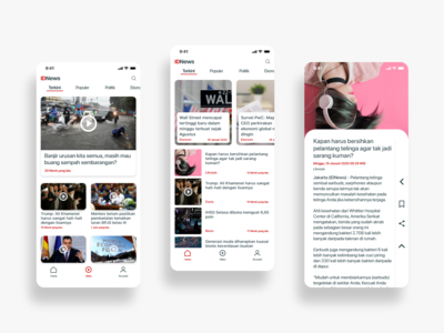 Hey Dribbblers! Here is my new work. It's News App Concept.