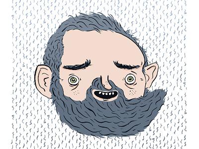 Portrait me pattern self-portrait face ink brush photoshop illustration