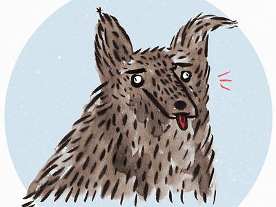 Doggo fun funny drawing ink animal dog brush photoshop illustration