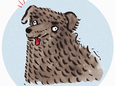 Doggo funny signs funny sketch drawing animal dog ink brush photoshop illustration