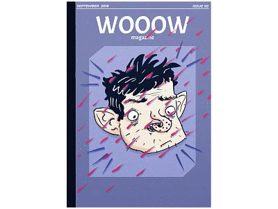 WOOOW Magazine - Issue 02 drawing design wow magazine ad magazine nose strange face character brush photoshop illustration
