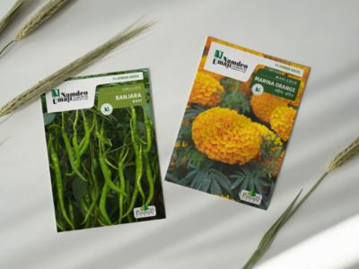 Redesigning seed packet for Namdeo Umaji (Ugaoo.com)