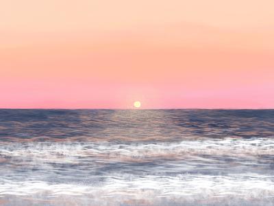 when i feel most alive ocean sea summer sun beach sunset nature design nature landscape illustration landscape design landscape drawing digital drawing digital illustration art digital art illustration artist illustration